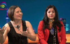 Anu Vittal & Olga Pankova talk about their Art in Toronto Buzz KM Ata @TAGTV